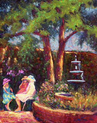 Painting - Dar Richards House Garden Party by Vernon Reinike