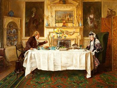 Toast Painting - Darby And Joan by Walter Dendy Sadler
