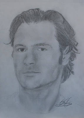 Toronto Maple Leafs Drawing - Darcy Tucker by Andrew Lahay
