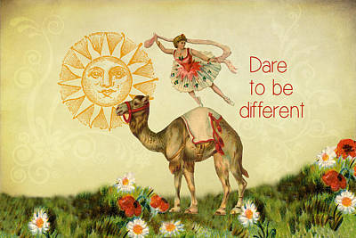 Digital Art - Dare To Be Different by Peggy Collins