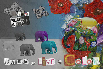 Mixed Media - Dare To Live In Color by Nola Lee Kelsey