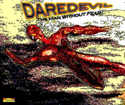 Pow Mixed Media - Daredevil  by Jazzboy
