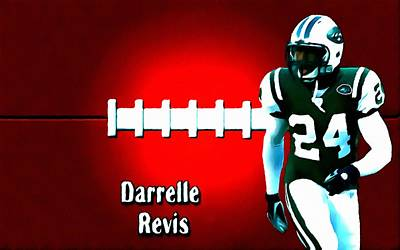 New York Jets Painting - Darelle Revis New York Jets Football Soccer by Lanjee Chee