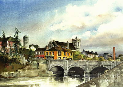 Painting - Dargle Bridge Bray  Wicklow by Val Byrne