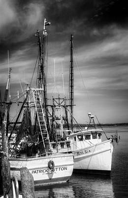 Photograph - Darien Days In Black And White by Greg and Chrystal Mimbs