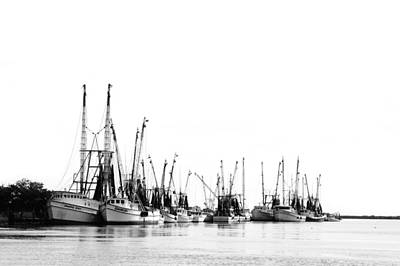 Photograph - Darien Harbour In Bw by Mary Hershberger