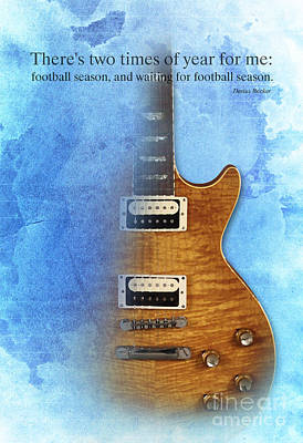 Guitar Player Digital Art - Darius Rucker Quote For Football Fans by Pablo Franchi