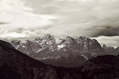 Snow. Mountain Photograph - Dark Alps by Ryan Wyckoff