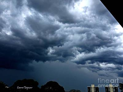 Photograph - Dark And Looming Storm Clouds by Leanne Seymour