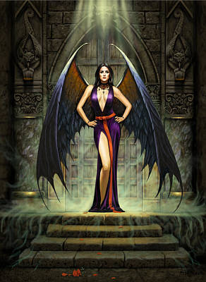 Dark Angels Photograph - Dark Angel by Chris Heitt
