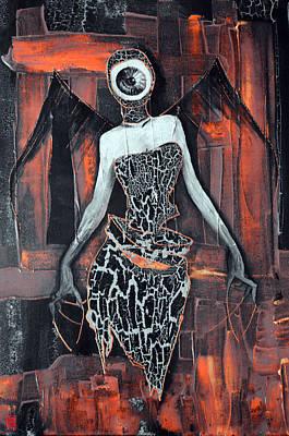 H.r. Giger Digital Art - Dark Angel Eye by Jakub DK
