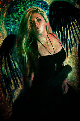 Digital Art - Dark Angel by Nada Meeks