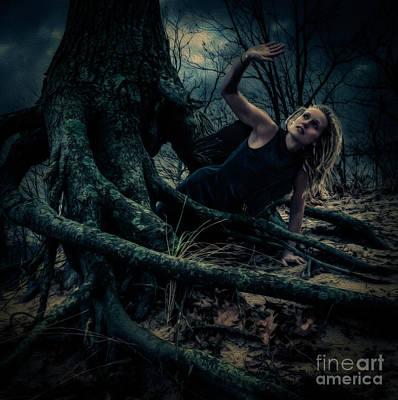 Dark Angel Rises Art Print