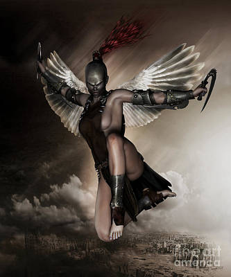 Merchandise Digital Art - Dark Angel by Shanina Conway