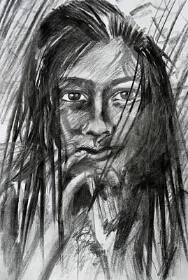 Drawing - Dark As Charcoal by Parag Pendharkar