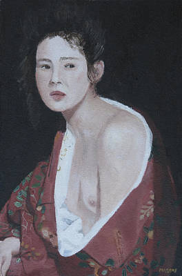 Painting - Dark Background by Masami Iida