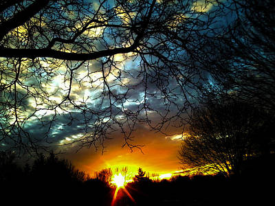 Dark Beauty Sunset Art Print by James Hammen