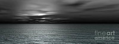 Dark Black Sea Art Print