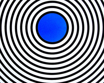 Dark Blue Circle Original by Scott Shaver