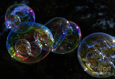 Photograph - Dark Bubbles With Babies by Nareeta Martin