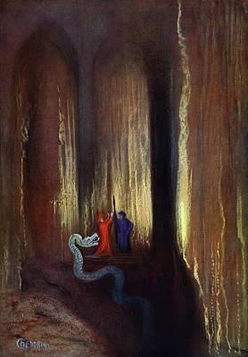 Dark Cavern, 1906 Art Print by Hermann Hendrich