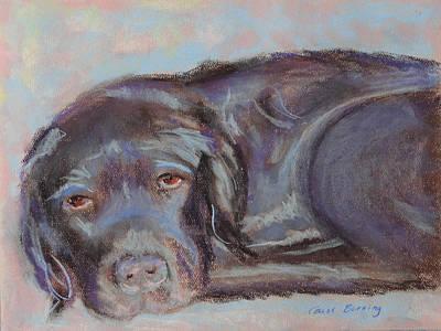 Chocolate Labrador Retriever Painting - Dark Chocolate by Carol Berning