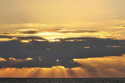 Photograph - Dark Cloud Over Sea With Sunbeams by Bradford Martin