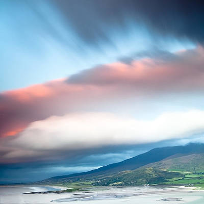 dark clouds over Irish coast Dingle peninsula Art Print by Dirk Ercken