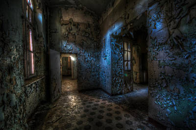 Creepy Digital Art - Dark Corner by Nathan Wright