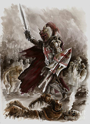 Dark Crusader Art Print by Mariusz Szmerdt