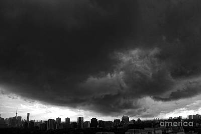 Photograph - Dark Dramatic Clouds by Charline Xia
