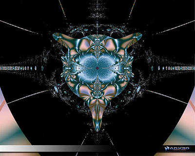 Art Print featuring the digital art Dark Fractal II by A Dx