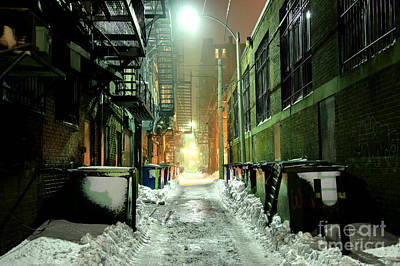 Ghetto Photograph - Dark Gritty Alleyway by Denis Tangney Jr