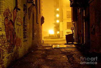 Ghetto Photograph - Dark Grunge Alley by Denis Tangney Jr