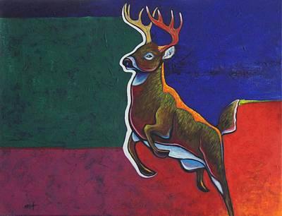 Eastern Point Painting - Dark Hollow Creek Buck by Joe  Triano