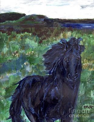 Painting - Dark Horse by Shelley Jones