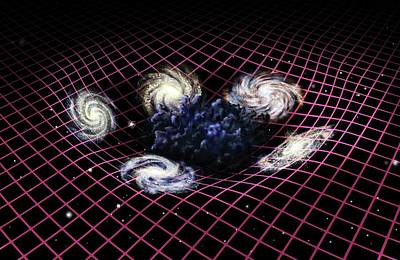 Dark Matter And Galaxies Art Print