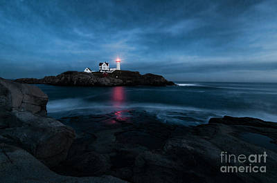 Dark Night At The Nubble Art Print