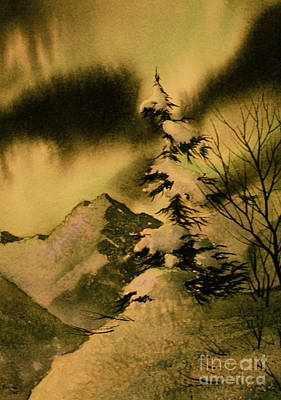 Viridian Painting - Dark Of Night by Teresa Ascone