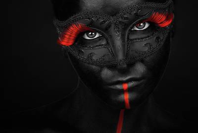 Face Wall Art - Photograph - Dark Passion by Petko Petkov