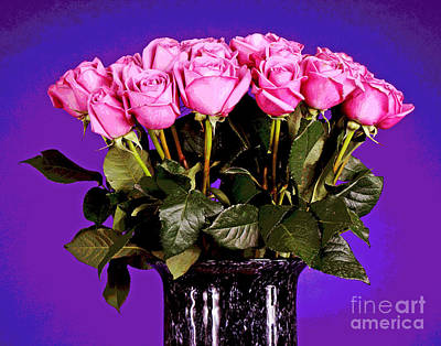 Photograph - Dark Pink Roses by Larry Oskin