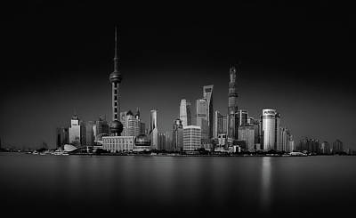 Antennae Photograph - Dark Pudong by Stefan Schilbe