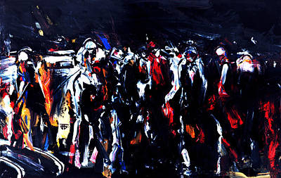 Painting - Dark Race by John Jr Gholson