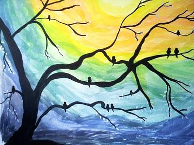 Painting - Dark Rendezvous Dawn by Surbhi Grover