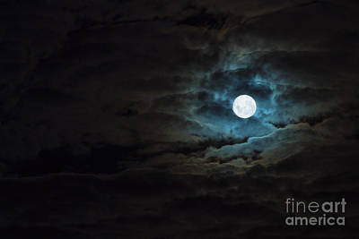 Night Moon Photograph - Dark Rising by Andrew Paranavitana