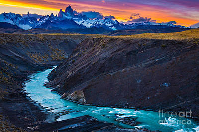 Fitz Photograph - Dark River Canyon by Inge Johnsson
