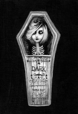 Pop Surrealism Drawing - Dark by Rouble Rust