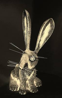 Photograph - Dark Sepia New Mexico Rabbit by Rob Hans