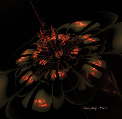 Digital Art - Dark Shimmer by Karla White