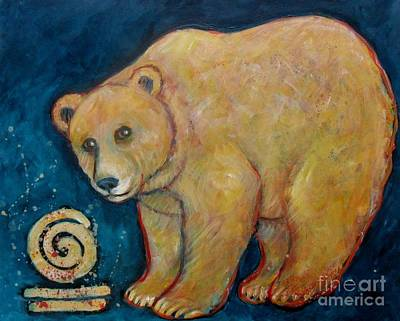 Painting - Dark Sky Bear by Carol Suzanne Niebuhr